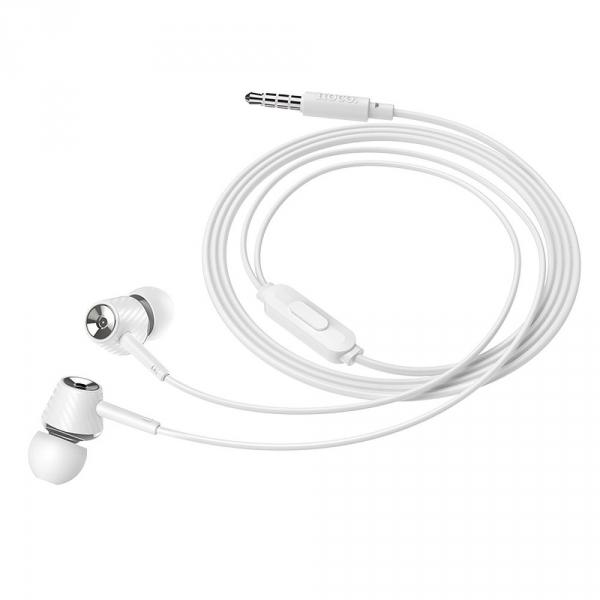 HOCO zestaw słuchawkowy / słuchawki dokanałowe Graceful M70 white