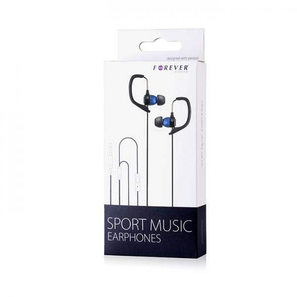 Zestaw słuchawkowy Forever Sport Music niebieski