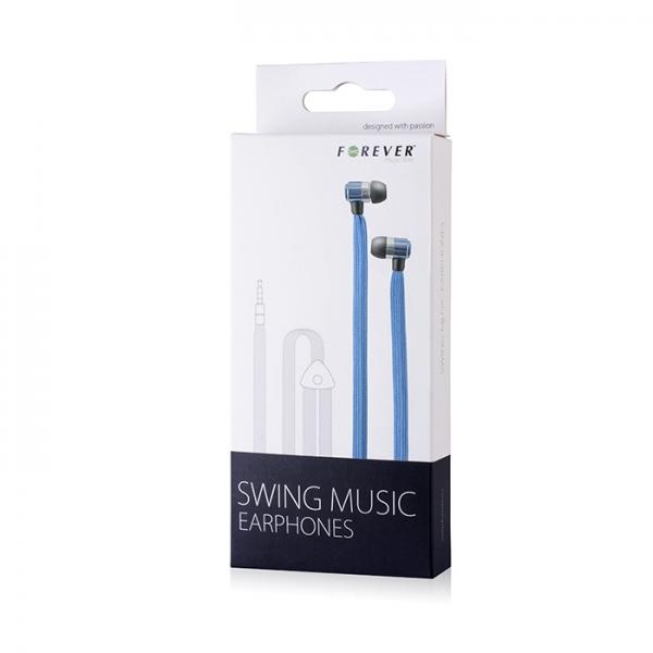 Zestaw słuchawkowy Forever Swing Music sznurówka niebieski
