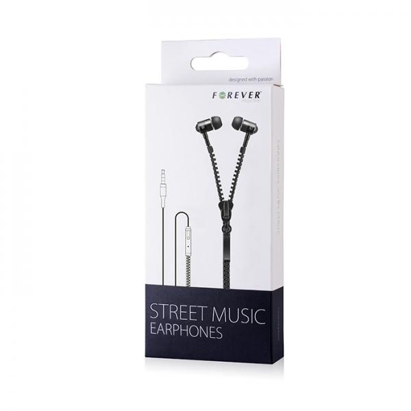 Zestaw słuchawkowy Forever Street Music czarny