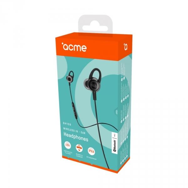 Acme Europe słuchawki bezprzewodowe dokanałowe BH109 czarne