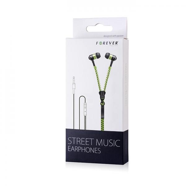 Zestaw słuchawkowy Forever Street Music zielony