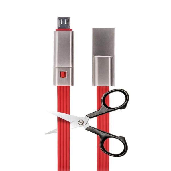 Kabel Forever micro-USB naprawialny czerwony 1,5m 1,5A