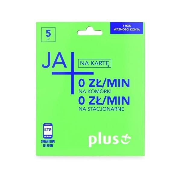 Karta Startowa Plus Ja + 0zł na komórki i 0zł na stacjonarne / Ja Plus rozmowy, SMS na komórki i 3GB
