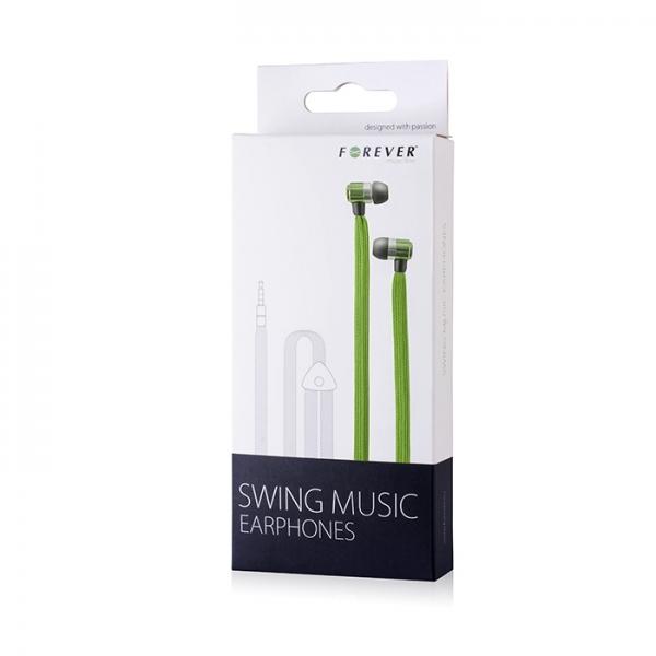 Zestaw słuchawkowy Forever Swing Music sznurówka zielony