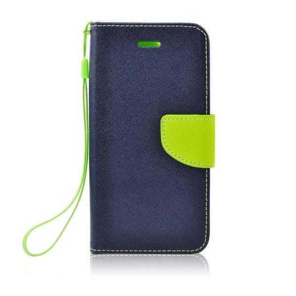 Kabura Fancy Book - SAM Galaxy S6 granatowy/limonka