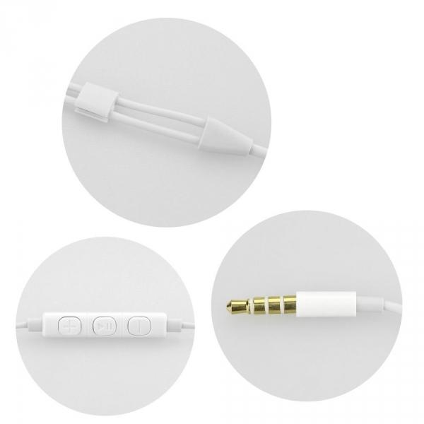 Zestaw HF / Słuchawki Stereo do Lightning 8-pin NEW BOX biały HR-ME25