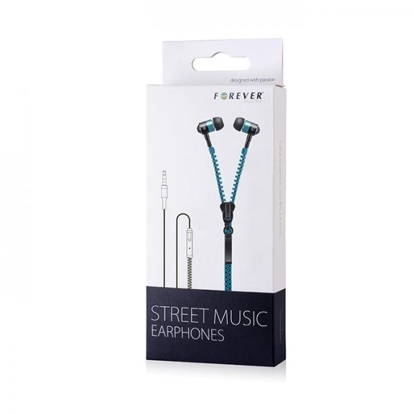 Zestaw słuchawkowy Forever Street Music niebieski